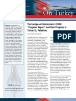"""The European Commission's 2010 """"Progress Report"""" and Real Progress in Turkey-EU Relations"""