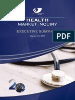 Health Market Inquiry - executive summary