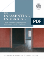 (Context and Content) Herman Cappelen, Josh Dever - The Inessential Indexical_ On the Philosophical Insignificance of Perspective and the First Person-Oxford University Press (2014).pdf