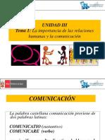 1 UNIDAD III  LA IMPORTANCIA DE LAS RELACIONES HUMANAS Y LA COMUNICACION.pptx
