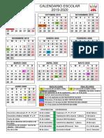 Calendario Escolar - Curso 2019-2020 - Familias