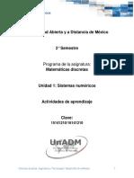 Unidad 1 Actividades de Aprendizaje Dmdi 1901-B2
