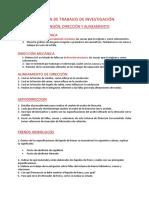 RESUMEN DE TRABAJOS DE INVESTIGACIÓN. SUSPENSIÓN, DIRECCIÓN Y ALINEAMIENTO