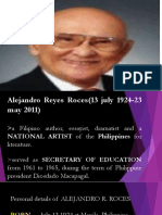 Group 7 Report in Philippine Literature(Alejandro r. Roces)