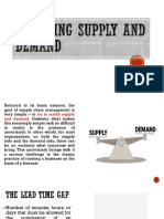 Chapter 4 Managing Supply and Demand