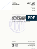 NBR 14725-4-2009 - Produtos Químicos - FISPQ