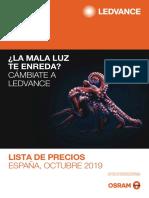 201909 Ledvance Lista de Precios Octubre 2019