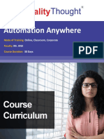 QT Automation Anywhere Course Content