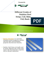 Different Grades of Stainless Steel Strips