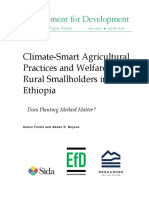 Efd Disc Eth Climate-smart Agricultural Practices and Welfare