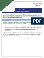 Summary_Break Even Analysis.pdf