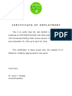 Crt of Employment ODC Copy