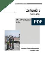 Tema 03 Control de Calidad Proyecto y Final de Obra 2019