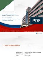 Linux Presentation Session1