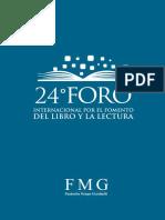 Programa 24 Foro Por El Fomento Del Libro y La Lectura 2019