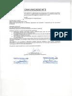 Comunicado No. 02-CAS No. 07-2019
