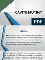 Cavite Mutiny Rizal Report