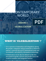Lesson 1 Globalization (Contemporary World)