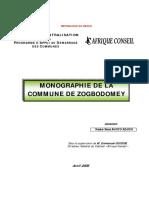 Monographie de ZOGBODOMEY