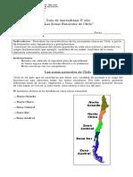 5° año -  Historia  -  Guía  -  Zonas Naturales