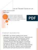 The Existance of Trade Union in an Organization