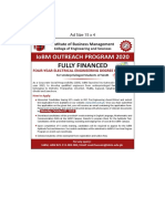 IoBM Outreach program 2020