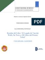 Reseña Del Libro de Jose O Valderrama Guerrier Yves Brunel