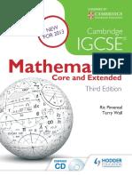 Cambridge IGCSE Mathematics Core and Extended 3ed