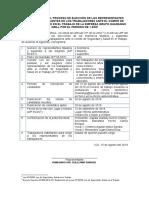 Proceso de Convocatoria Para La Seleccion 01 - 2019