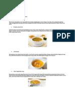 Jenis Jenis Soup