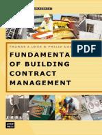 Fundamentals of Building Contract Management