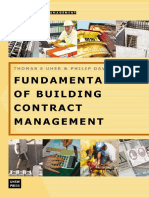 Fundamentals of Building Contract Management