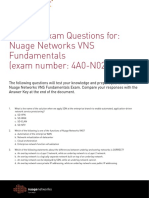 Nuage Networks VNS Fundamentals Course Practice Questions