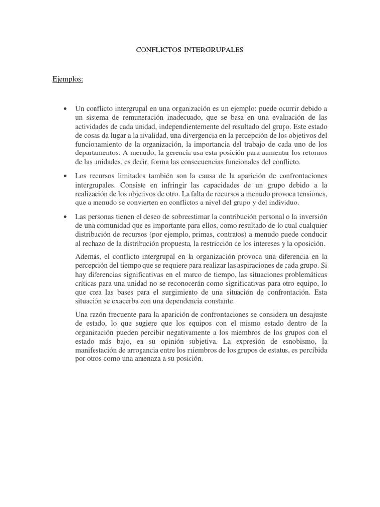 Conflictos Intergrupales Upla Conflicto Proceso Estado Política