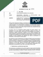 Directiva 008 Intervencion en Politica
