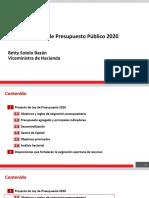 MEF Gastos Presupuesto 2020 060919