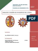 Analisis y Diseño de Un Edificio de 3 Pisos (Concreto Armado I)