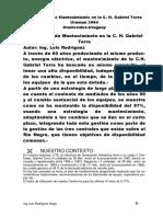 Estrategias Mantenimiento Central Hidroelectrica Gabriel Terra