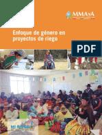 Enfoque de Genero en Proyectos de Riego 2018