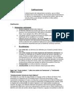 Calificaciones y cuestion previa