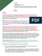 DBP vs Min. of Labor