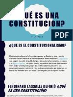 Qué Es Una Constitucion f.lasalle
