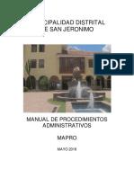 MUNICIPALIDAD DE SAN JERONIMO