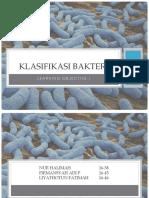 Learning objective klasifikasi bakteri - blok 7 Jejas dan Respon Imun