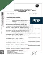 certificado de hipoteca y gravámenes de una propiedad