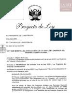 Proyecto de Ley Modificación de Ley 28301