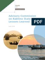 Advisory Commission on Rakine State; Lessons-Learned