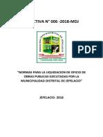 RESOLUCION DE APROBACION DE COMITE DE RECEPCION Y LIQUIDACION DE OBRA