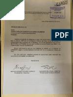 Oficio Del Presidente Vizcarra a Pedro Olaechea