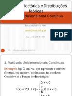 Variaveis aleatorias distribuições_ caso unidimensional_contínuo